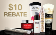 Olay Facial Skin Care Rebate wyb $30 get $10 Gift Card - The
