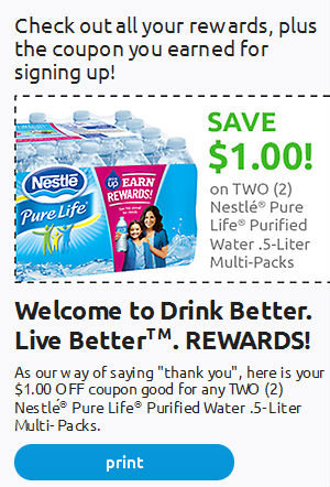 $1/2 Nestle Pure Life Water Multipack Coupon - The