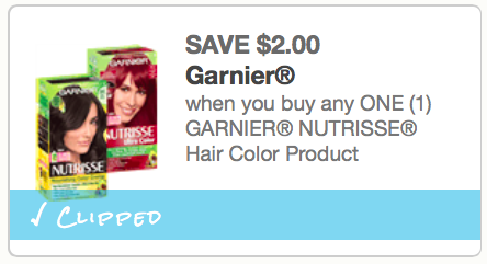 $2 off GARNIER NUTRISSE Hair Color Product Coupon - The Accidental ...