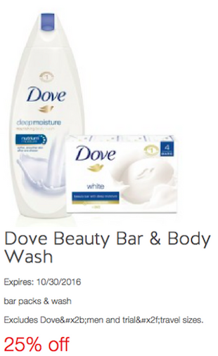 25% off Dove Beauty Bar & Body Wash Target Cartwheel Coupon - The Accidental Saver