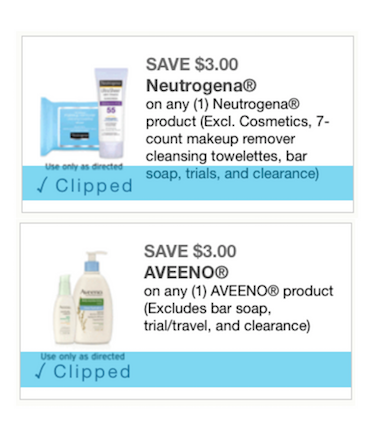 $3 Aveeno and $3 Neutrogena Coupons has Reset!!! - The Accidental Saver